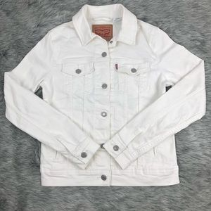 Levis Original Trucker White Button Jean Jacket
